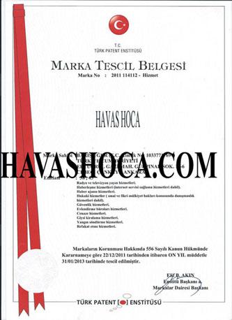 havas hoca resmi patent tescil